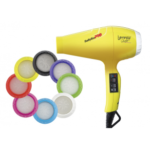 Фото BABYLISS PRO Фен Luminoso Giallo Ionic, желтый 2100W